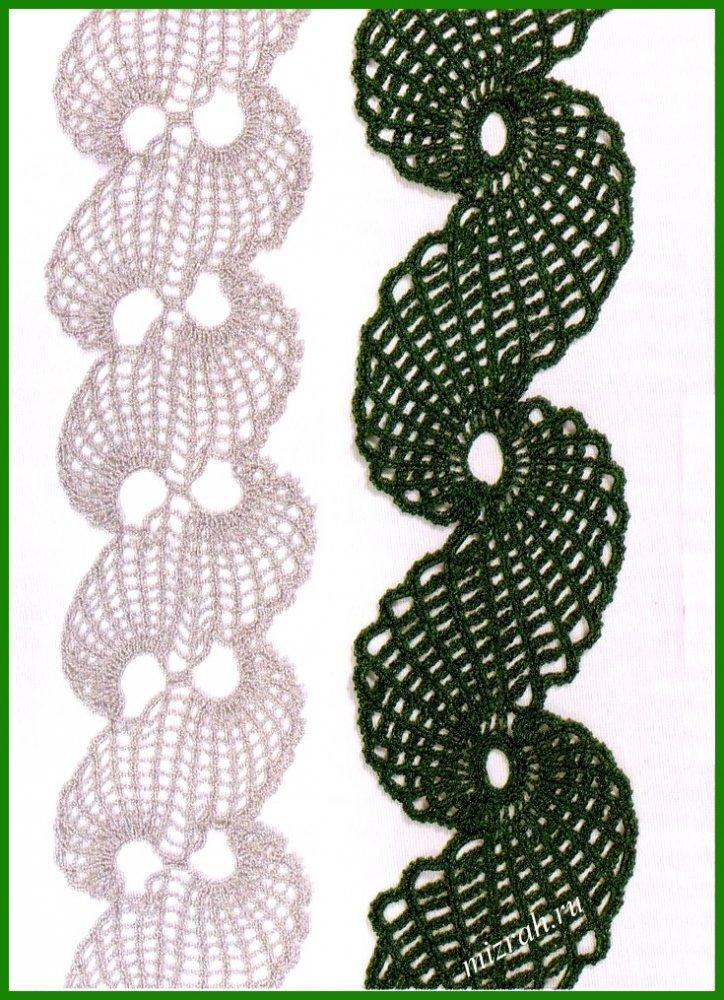 ажурное кружево вязание