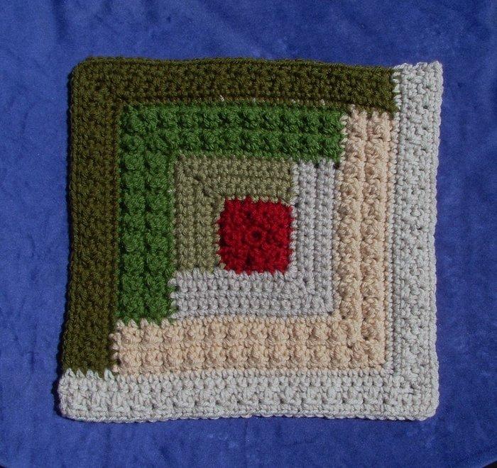 квадраты крючком для пледа схемы с образцом Taulockchays Diary