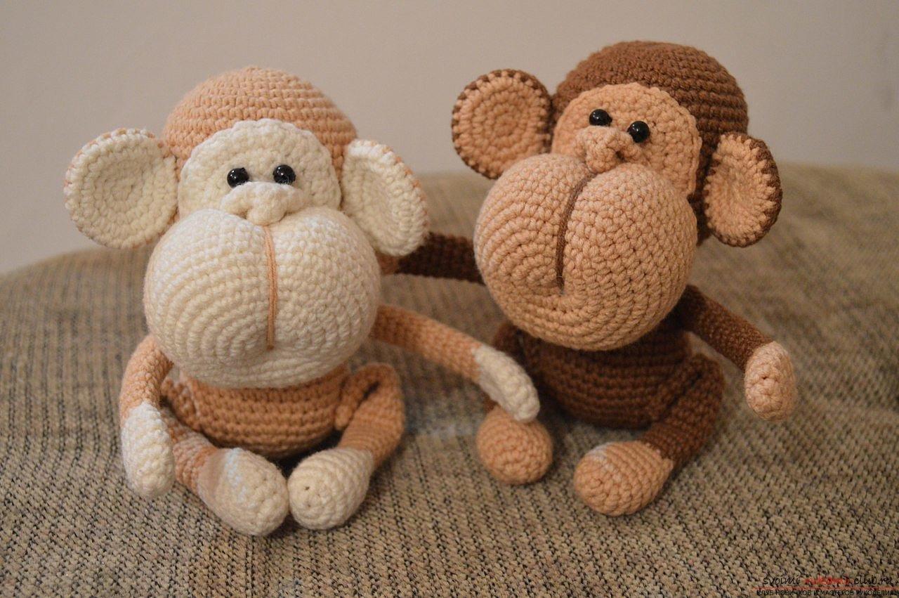 Амигуруми обезьяна: схема как делать крючком и спицами.