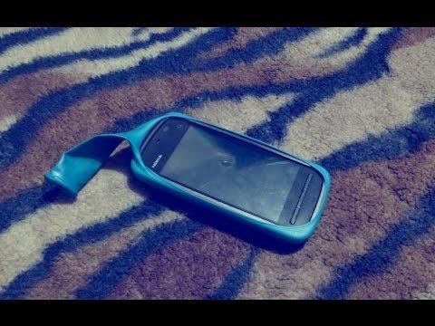 Как сделать чехол из шарика для телефона видео