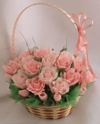 Цветы букет оригинальный из роз своими руками фото