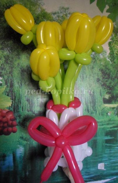 Фото как сделать букет из шаров своими руками фото 719