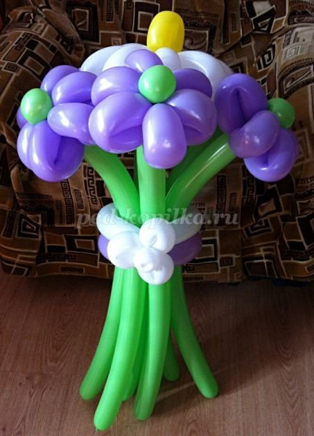 Букет из шаров своим руками фото 685