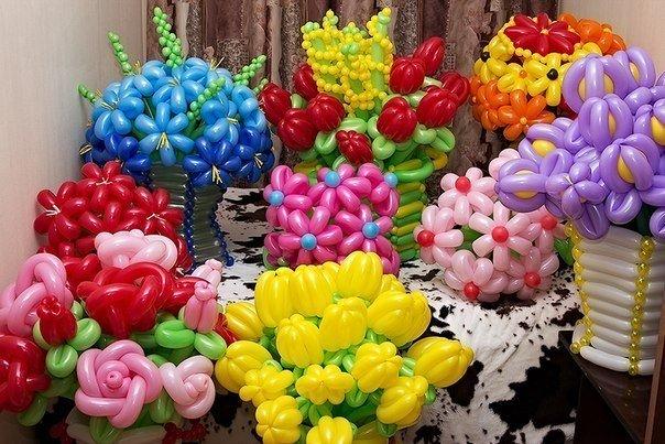 Как сделать цветы из шаров фото фото 728