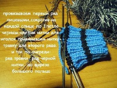 Мастер класс по варежкам ежикам спицами: схема вязания и описание для детей