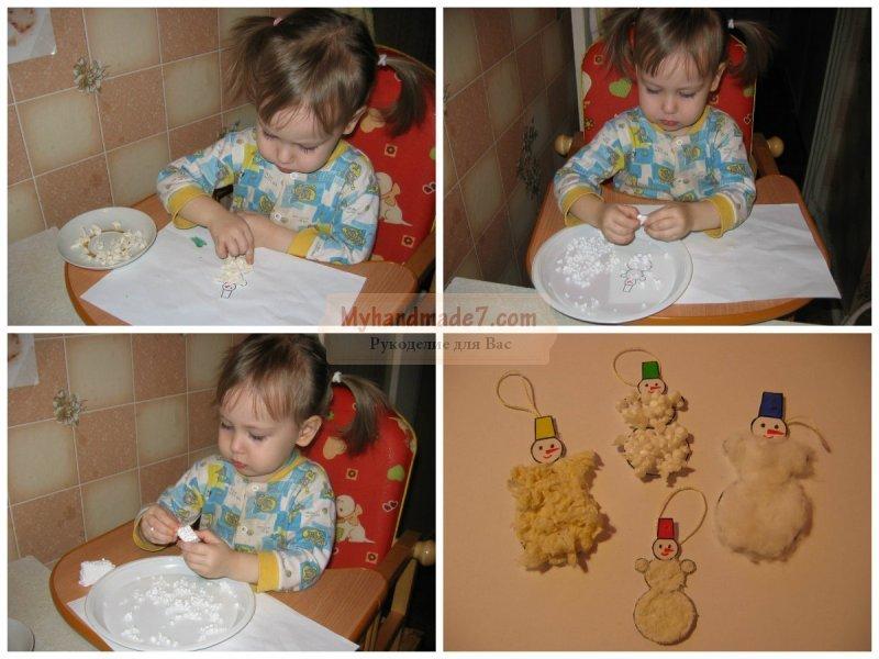 Аппликация снеговик с шаблонами: шаблоны как делать из бумаги и из ватных дисков