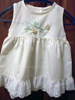 Образцы вышивки на платье