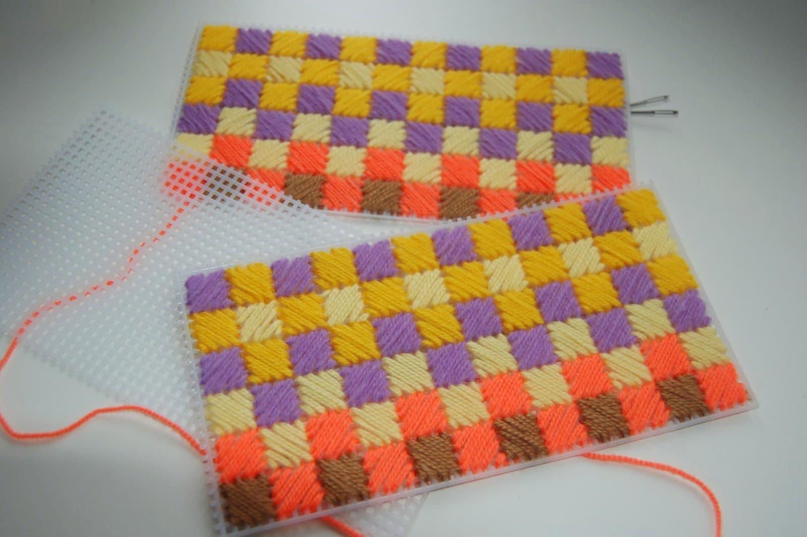Вышивка на жесткой канве