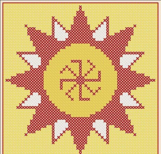Вышивка крестом славянских оберегов