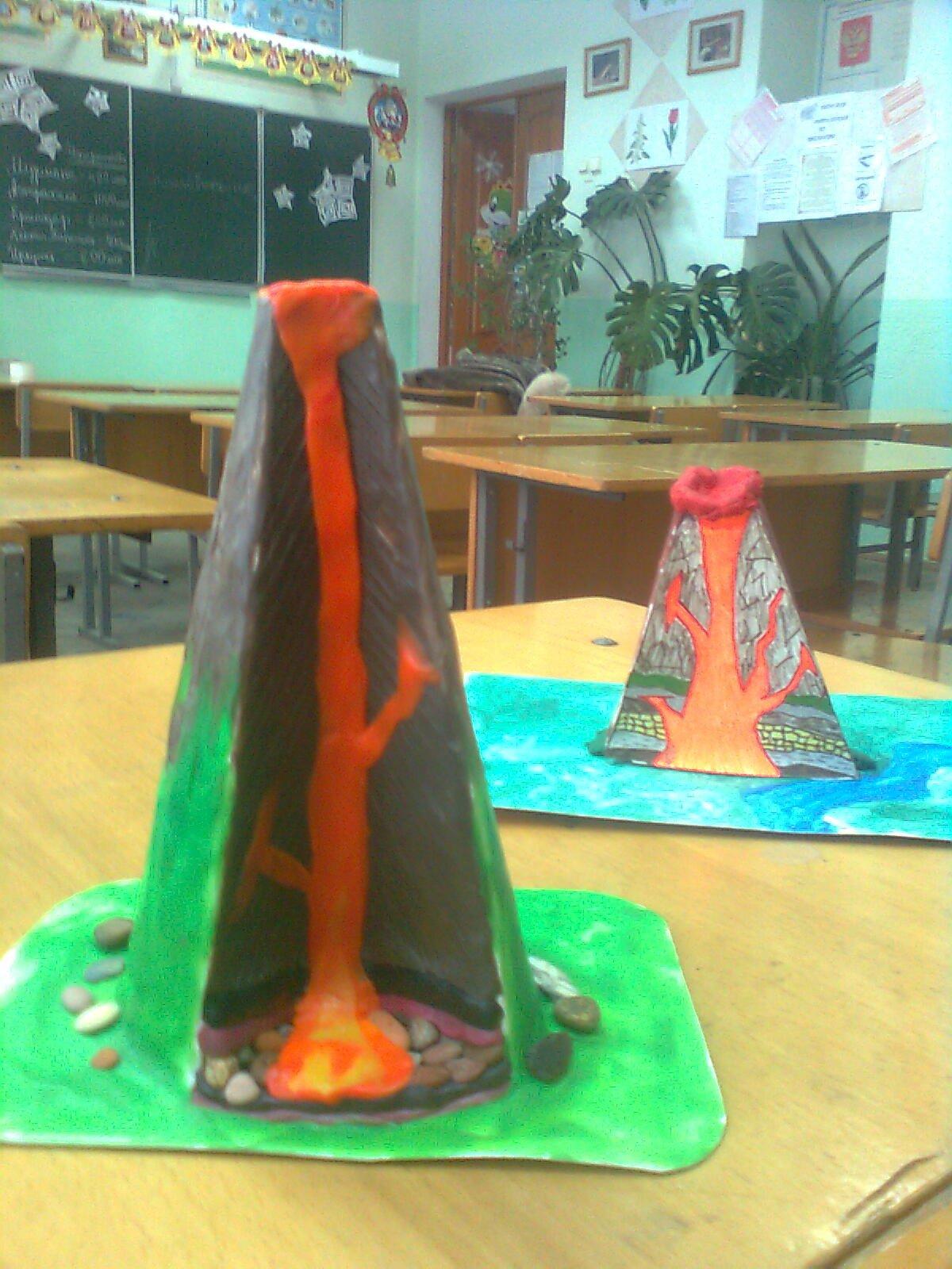 Вулкан из соленого теста своими руками