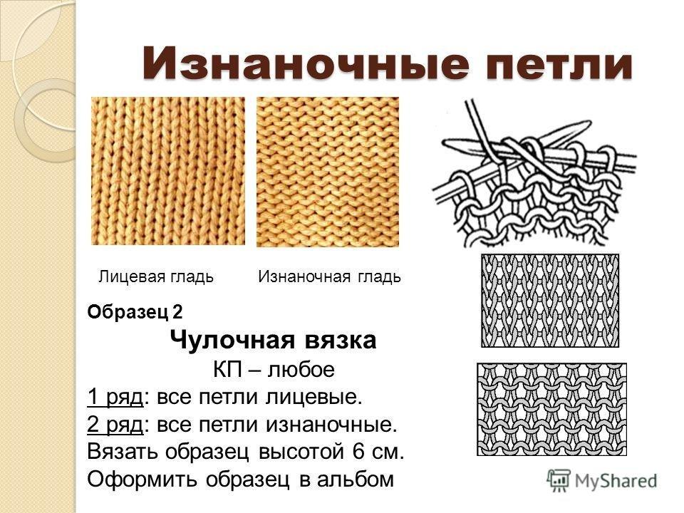 Схема вязания изнаночная лицевая 89