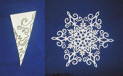 Вырезание снежинок из бумаги: пошаговое фото и шаблоны