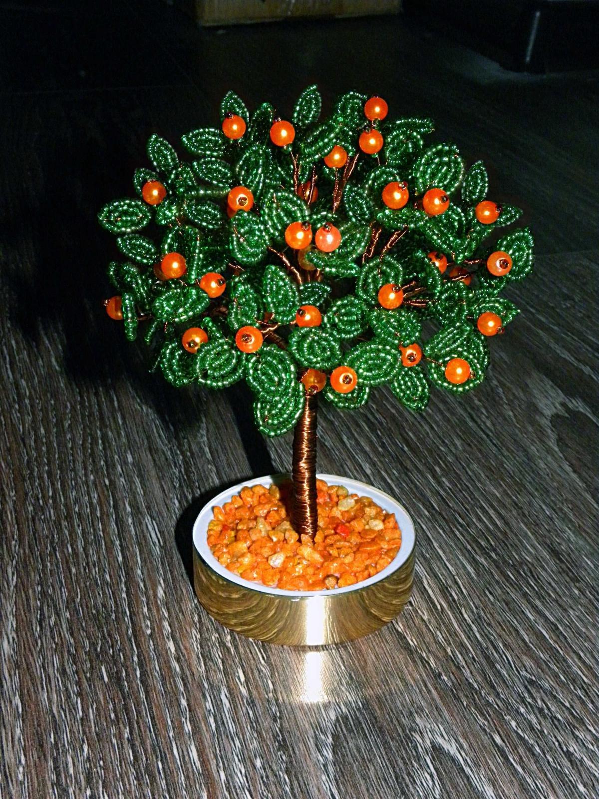 Дерево поделки бисер 42