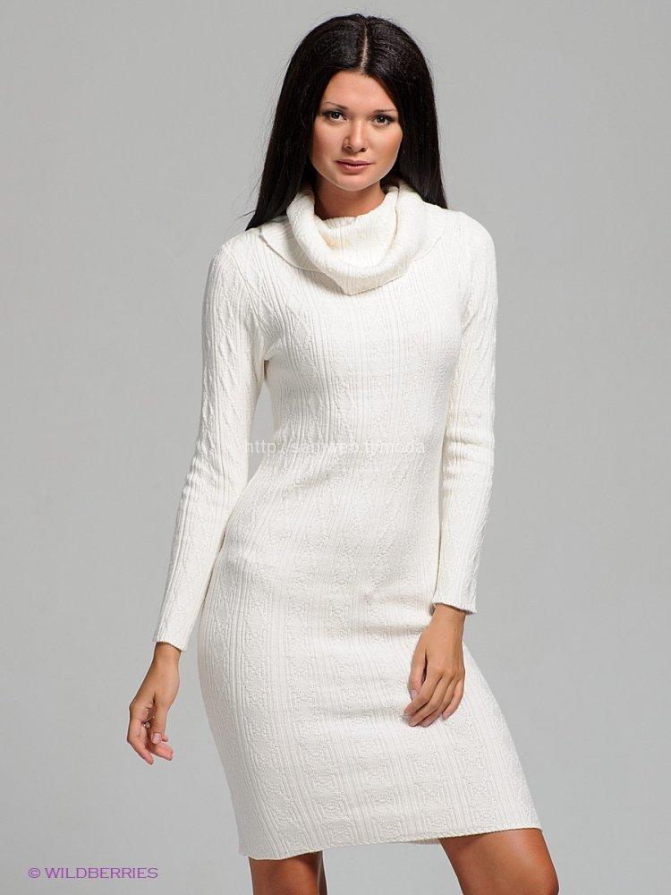 Белое вязаное платье: делаем спицами для девочки