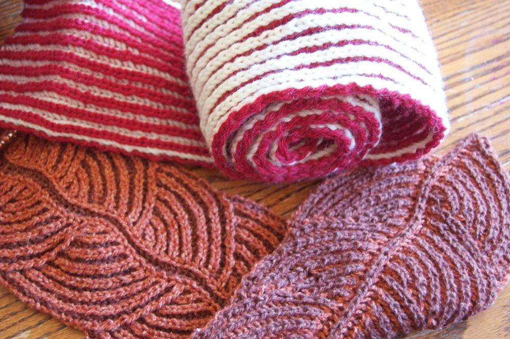 Техника вязания спицами Бриош: мастер класс и описание как делать узор листья
