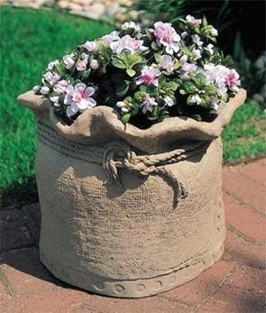 Горшки для цветов своими руками из цемента и тряпок