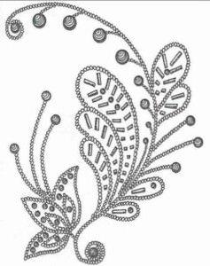 Узор из бисера на платье схема