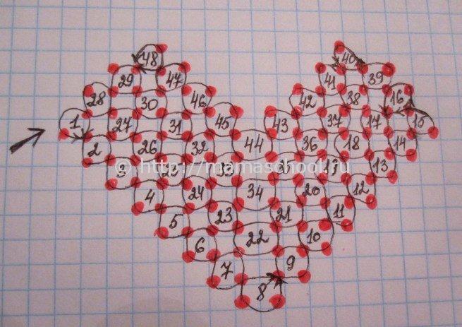 Как с бисера сделать сердце