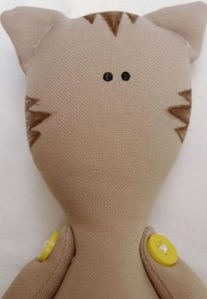 Мягкая игрушка кота: выкройка своими руками с фото