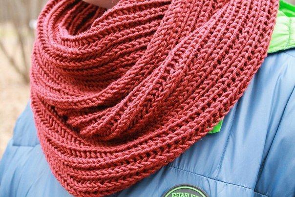 Мастер класс как связать шарф спицами видео