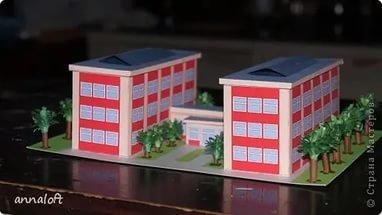 Макет дома из бумаги своими руками: схемы и фото