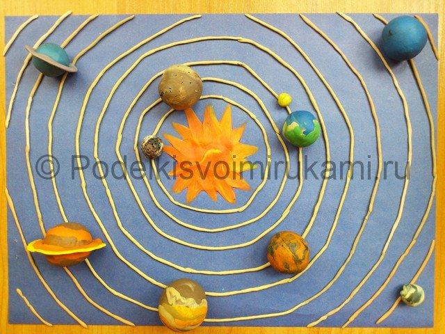 Поделка солнечная система своими руками из пластилина