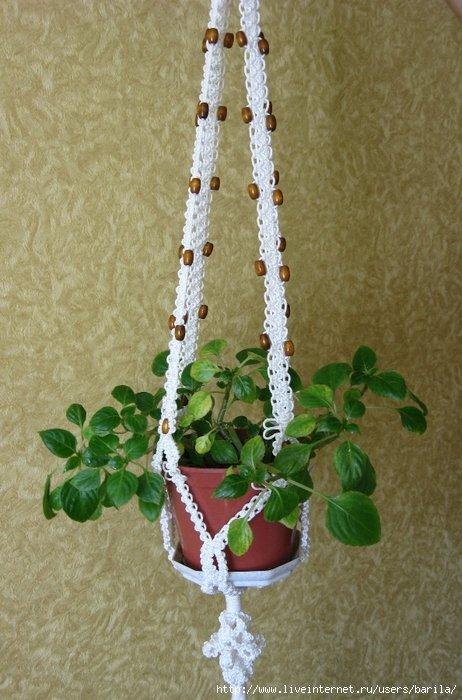 Кашпо для цветов своими руками: вязаное спицами