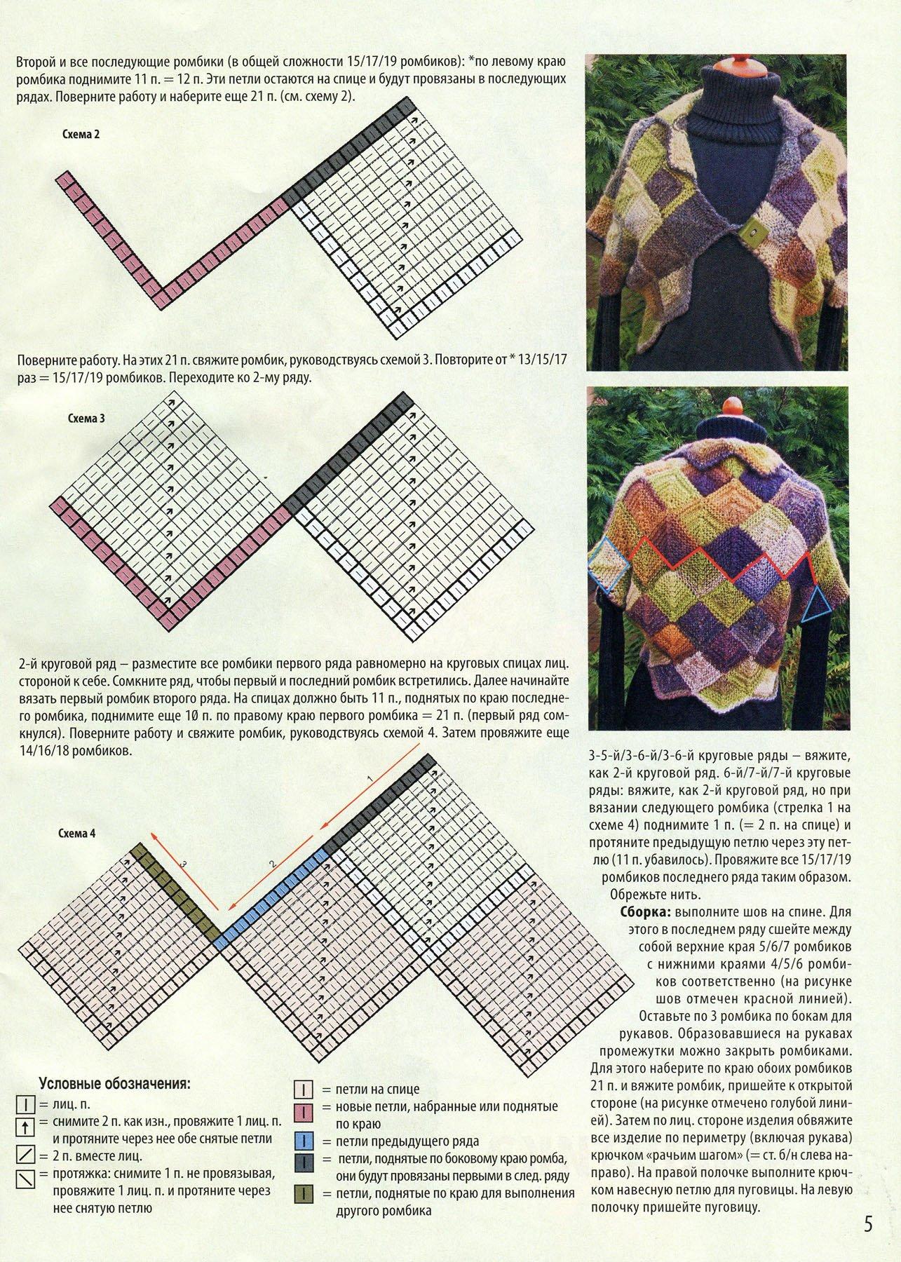 Вязание в стиле пэчворк описание 427