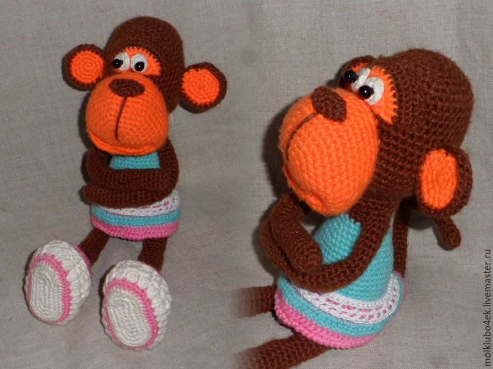 Вязание крючком игрушки мастер класс обезьянка6