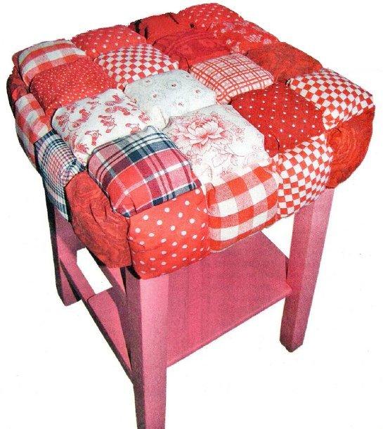 Мягкое сиденье на табуретку своими руками