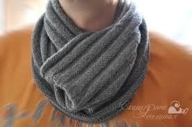 связать шарф для мужчины спицами с описанием