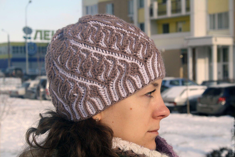 Фото пошагово шапка спицами