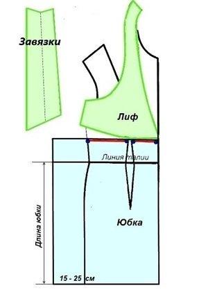 Летнее платье для полных: выкройка для рукодельниц