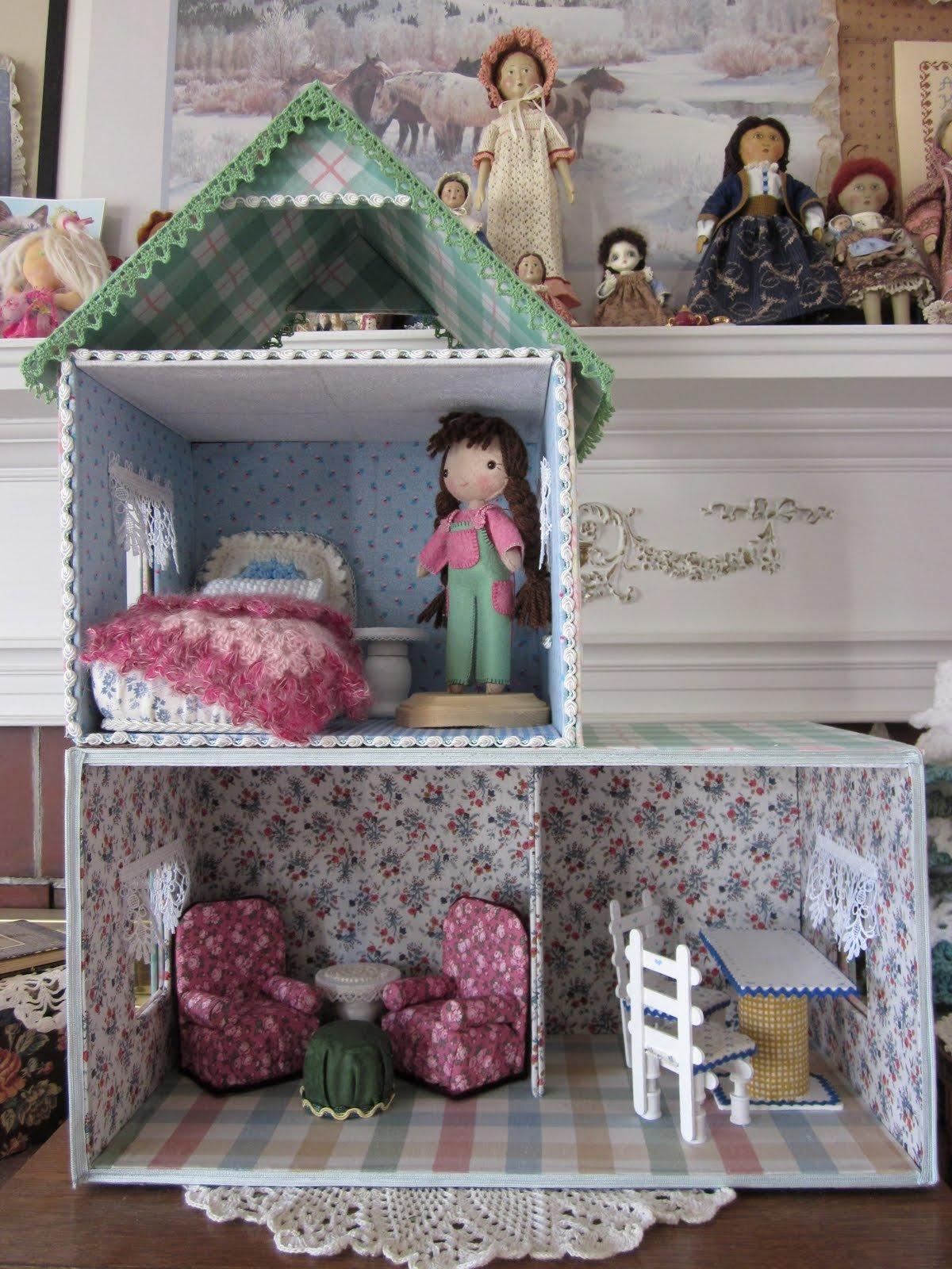 своими руками кукольный дом из коробок