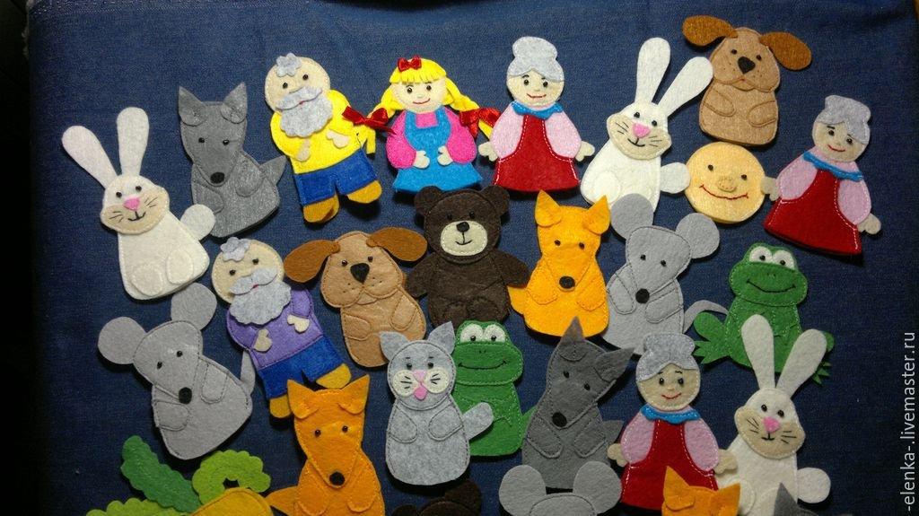 Шаблоны пальчиковых кукол из фетра своими руками 41