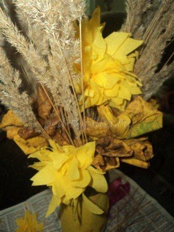 Экибана из листьев: делаем для детей