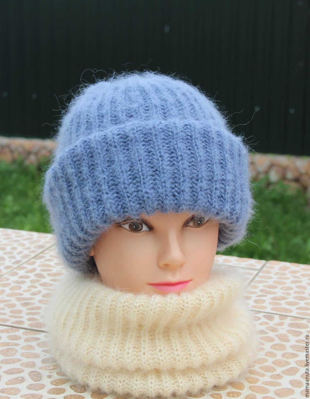 Вязание шапочки с отворотами 615