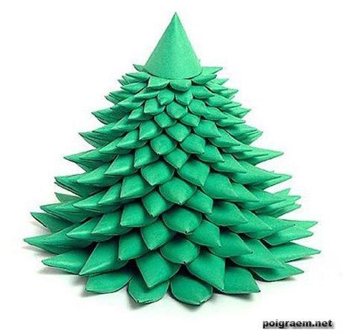Объемная елка из бумаги: схемы своими руками