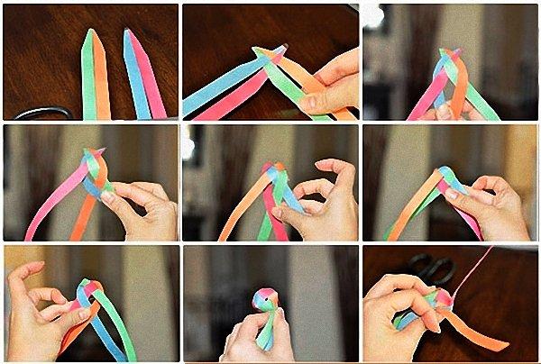 Гирлянда своими руками пошаговая инструкция из бумаги