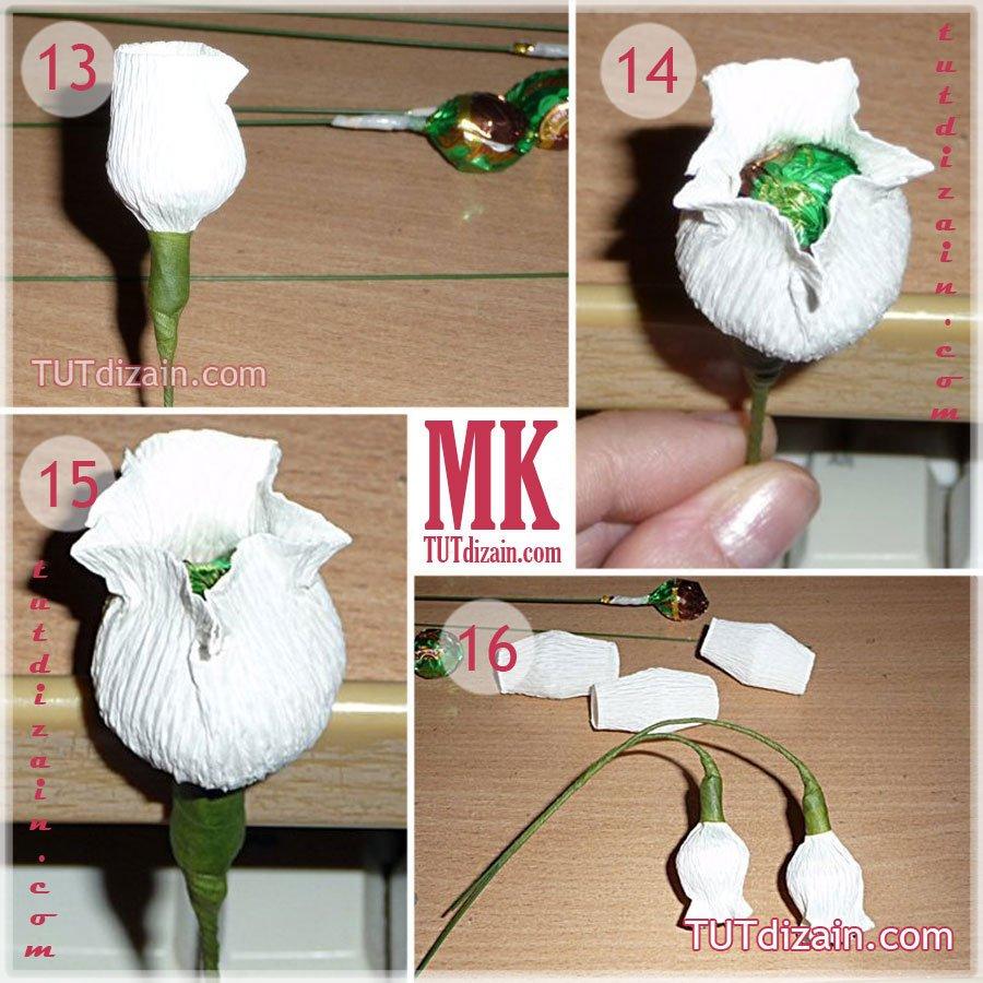 Цветок ландыш из бумаги своими руками 58
