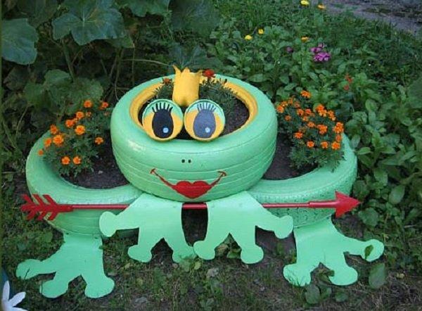 Как делается лягушка из шин - Шины и диски 100