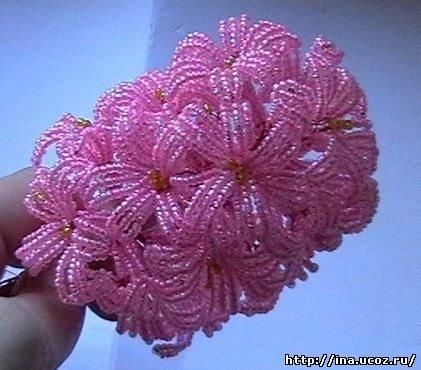 Цветы из бисера своими руками пошагово