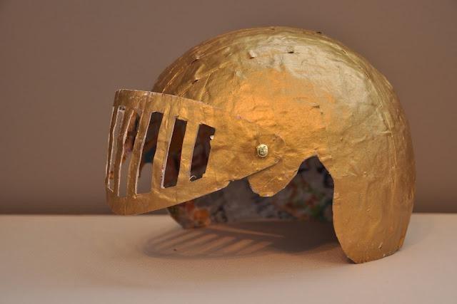 Шлем из бумаги мастер класс как сделать #11