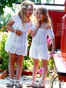 Летнее платье крючком: вяжем со схемами для начинающих