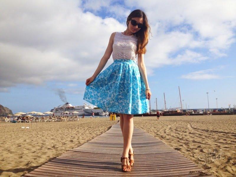 Выкройки расклешенных летних юбок