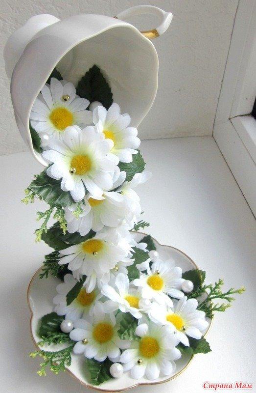 Чашка с цветами мастер класс с пошаговым фото