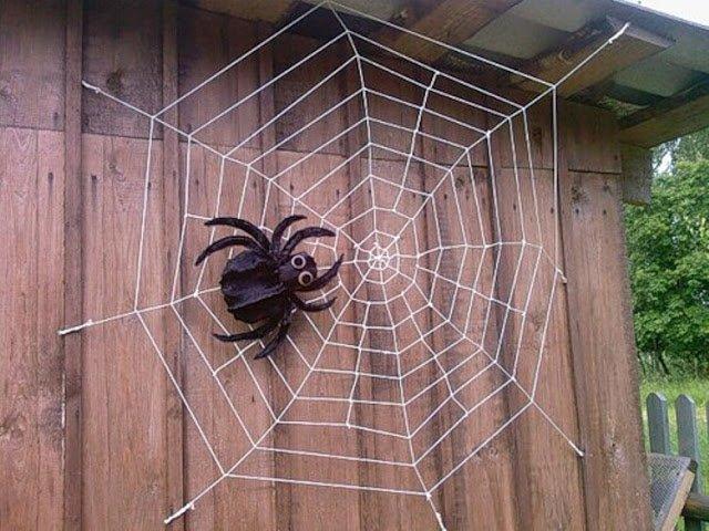 Как сделать паука своими руками на даче фото
