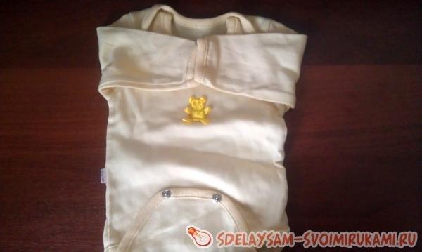 Букет из одежды для новорожденных: мастер класс своими руками