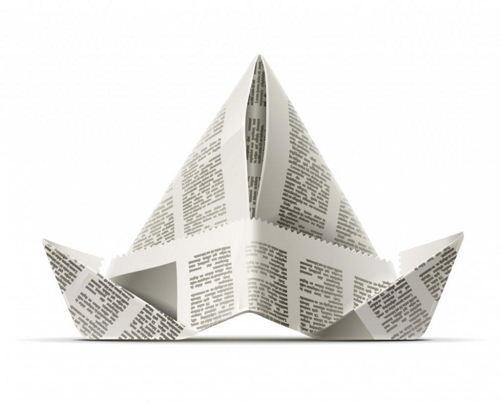шапка из газеты для маляра