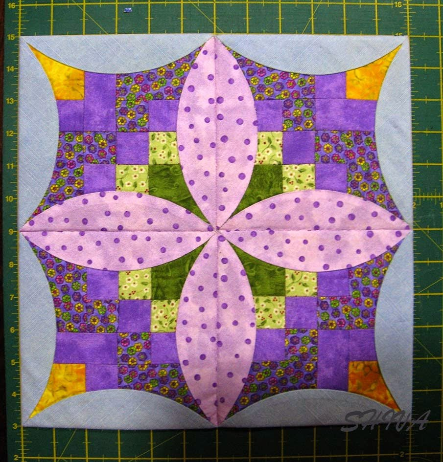 Лоскутное шитье квадратом